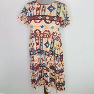 ⭐️3/$25⭐️ Lularoe Aztec high low Carly swing dress